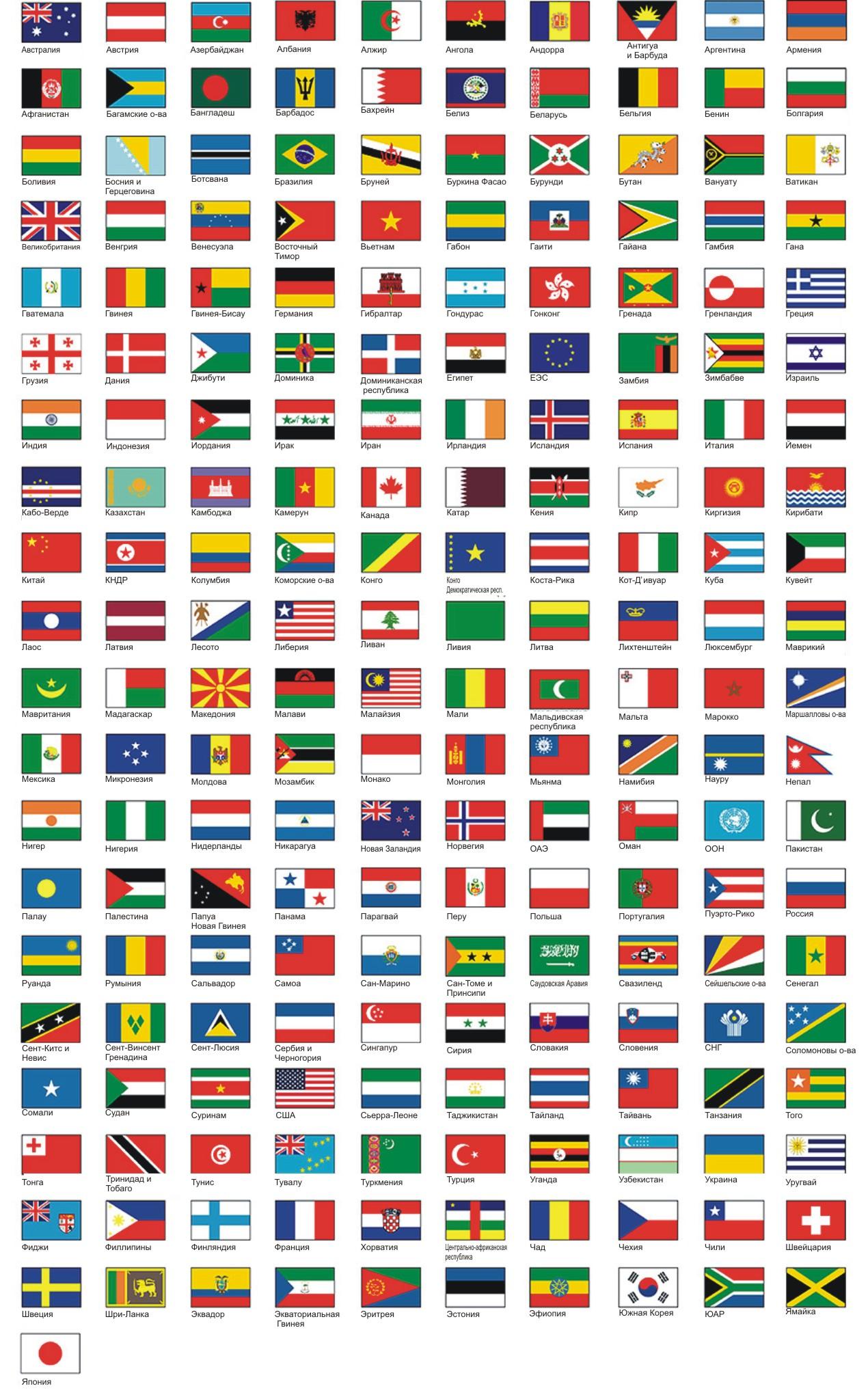 Продукция флаги страны мира