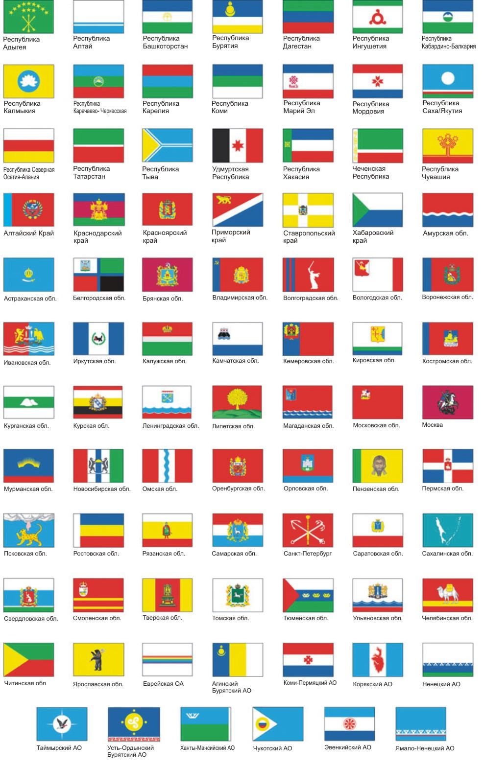 Продукция флаги флаги субъектов рф